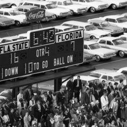 1964-Scoreboard at Doak Sheridan Campbell Stadium in Tallahassee.