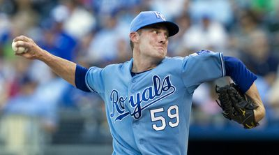 Kansas City Royals starting pitcher Philip Humber works in the second inning of the first game of a double-header against the Chicago White Sox at Kauffman Stadium in Kansas City, Missouri, Saturday, August 21, 2010.