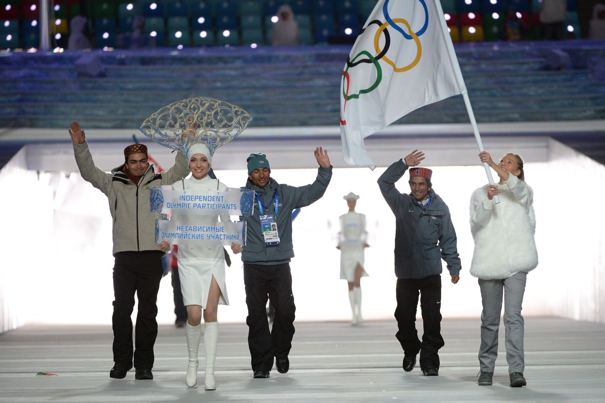 Refugees will march under the Olympic flag, sometimes used by athletes whose countries can't compete in the Olympic Games.