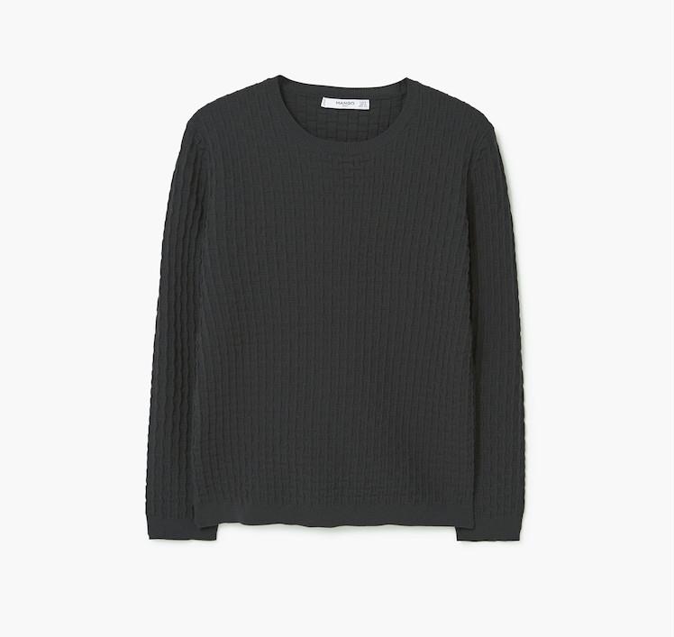 Mango Textured Fine-Knit Sweater, $49.99