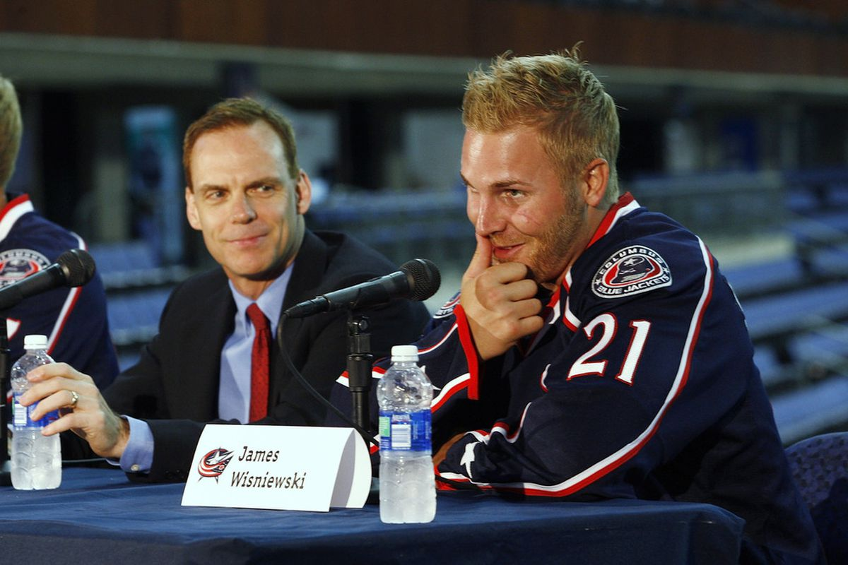 Scott Howson has reason to look a bit smug as he continues a summer of sweeping change for the Blue Jackets. (Photo by John Grieshop/Getty Images)