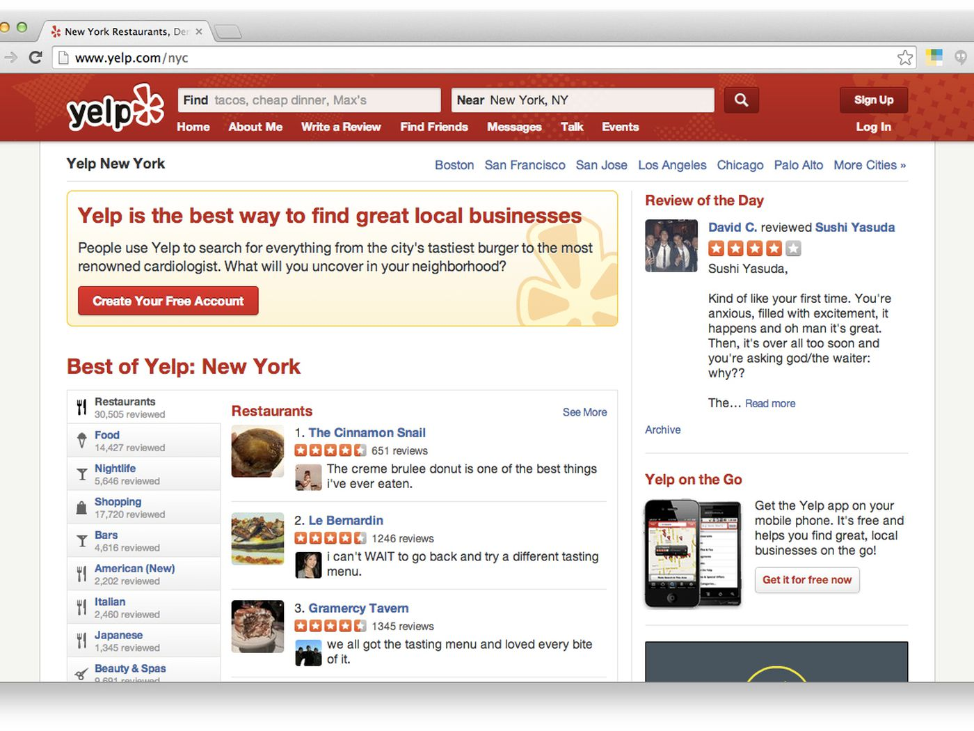 Restaurant reviews yelp - How The Nyc Health Dept Used Yelp To Track Unreported Food Poisoning Cases Eater