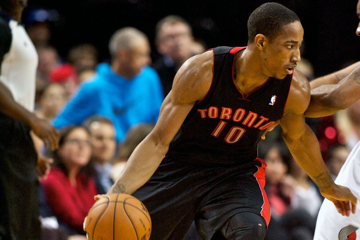 DeMar DeRozan was one of the few Raptors that brought energy to the game last night in Portland