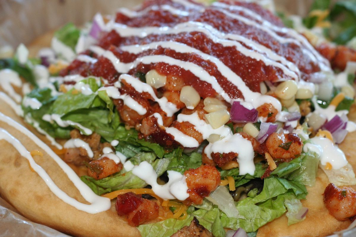 Picture of fry bread from Tocabe in Denver, since there's no fry bread in Portland yet to photograph.