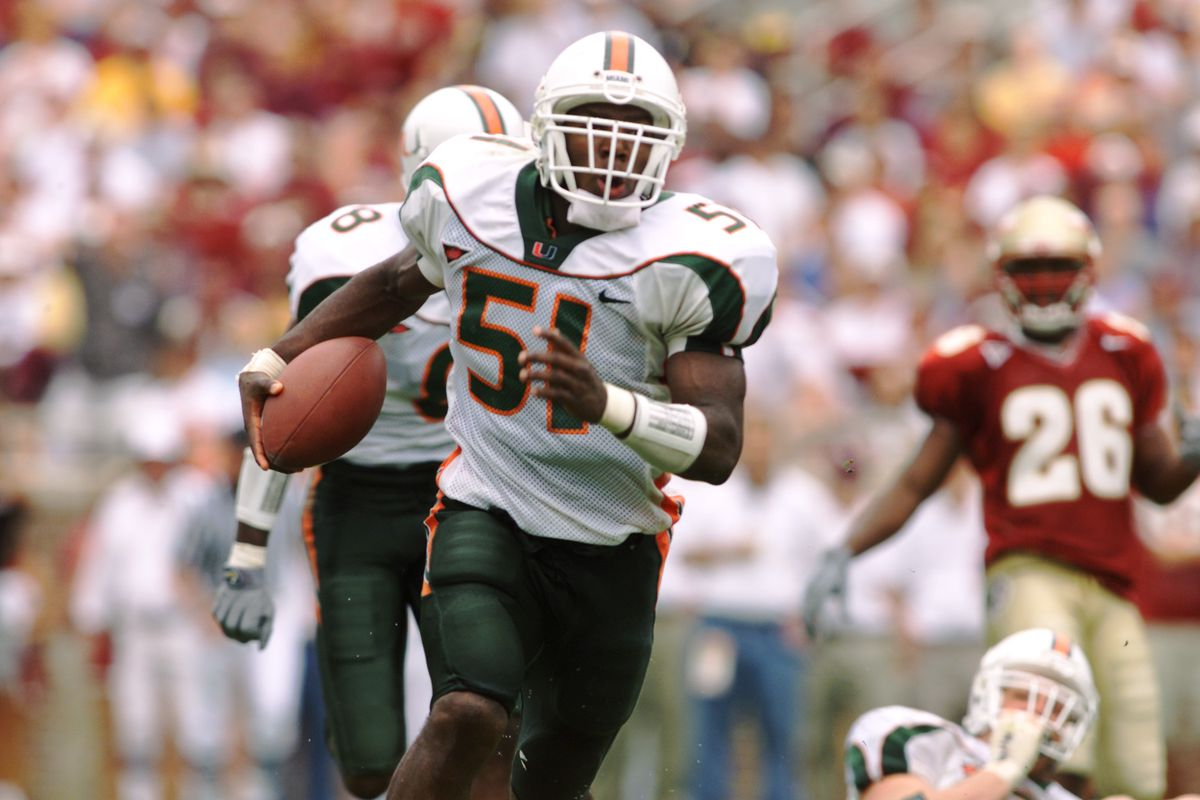 100 Greatest Plays In Miami History: #78-Jonathan Vilma Fumble Recovery Touchdown Against FSU 2001