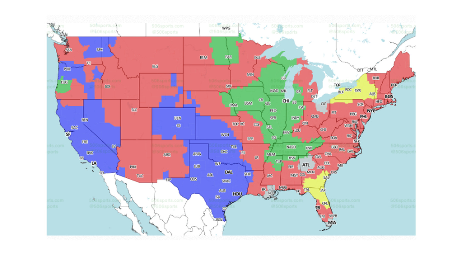 Nfl Week 12 Tv Maps Bengals Vs Ravens Available For Much Of Country Cincy Jungle