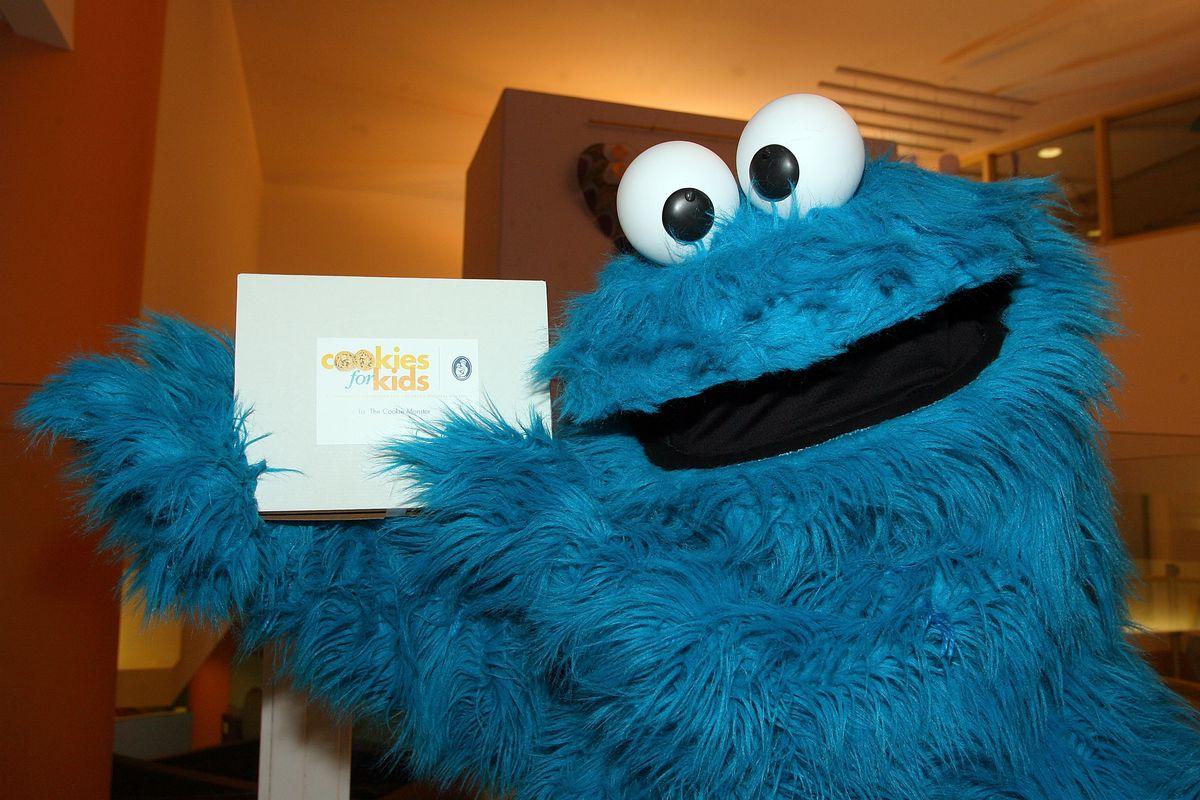 Elmo & Cookie Monster on Midweek Morning Show at Children's Hospital Boston