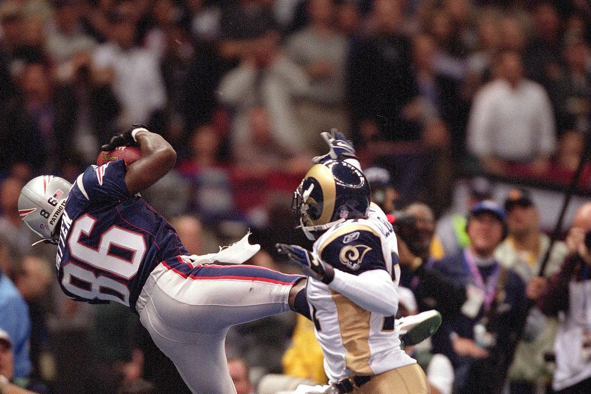 New England Patiots David Patten, Super Bowl XXXVI
