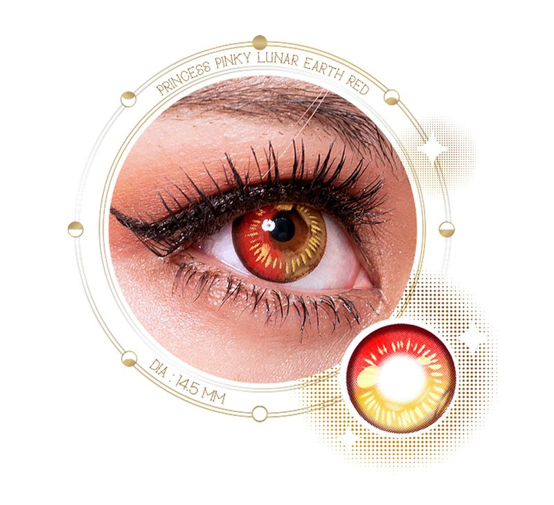 Image of red colored contacts