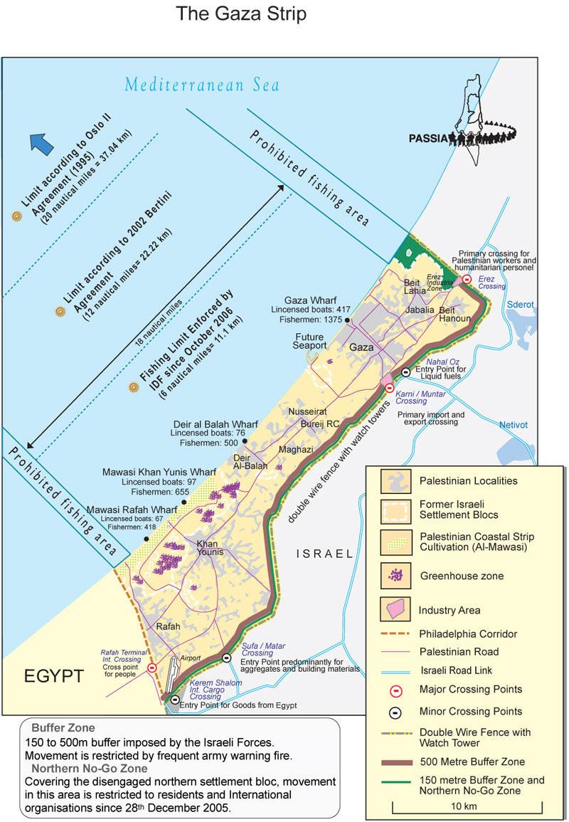 gaza map 2007 PASSIA