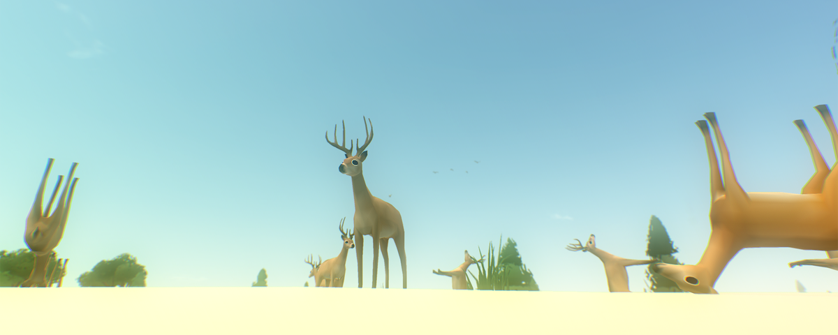A group of deer in Everything.