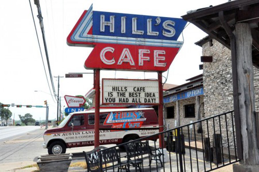 Old School Austin Burgers Hills Cafe Since 1947 on trendy clock radio