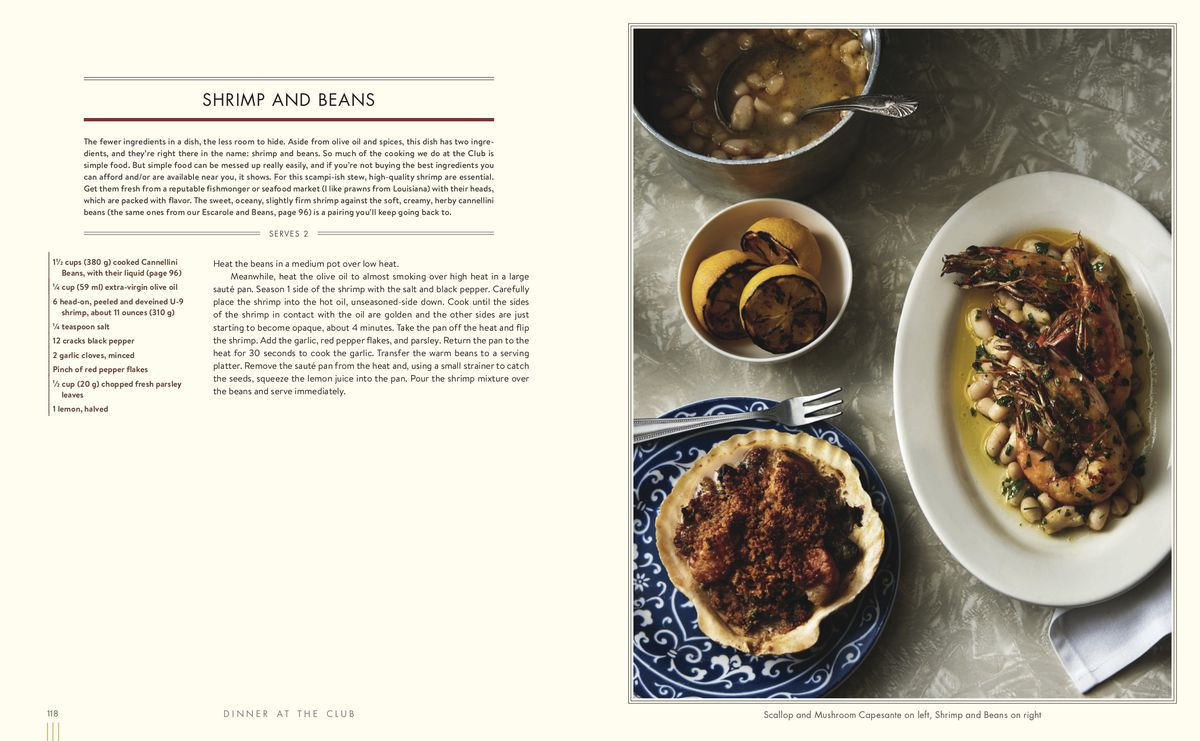 page from a cookbook with recipe and photo