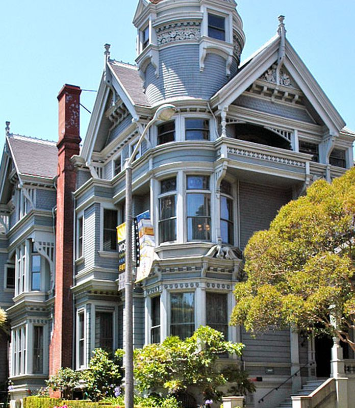 Some Queen Anne S Have Turret Towers Usually At The Front Corner In Sf These Are Free Standing House Often On Corners Or Large Double Lots As