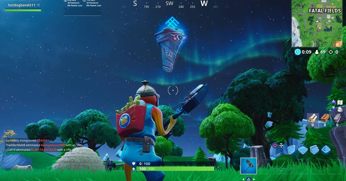 photo of Fortnite players are pushing a floating alien rune across the island image