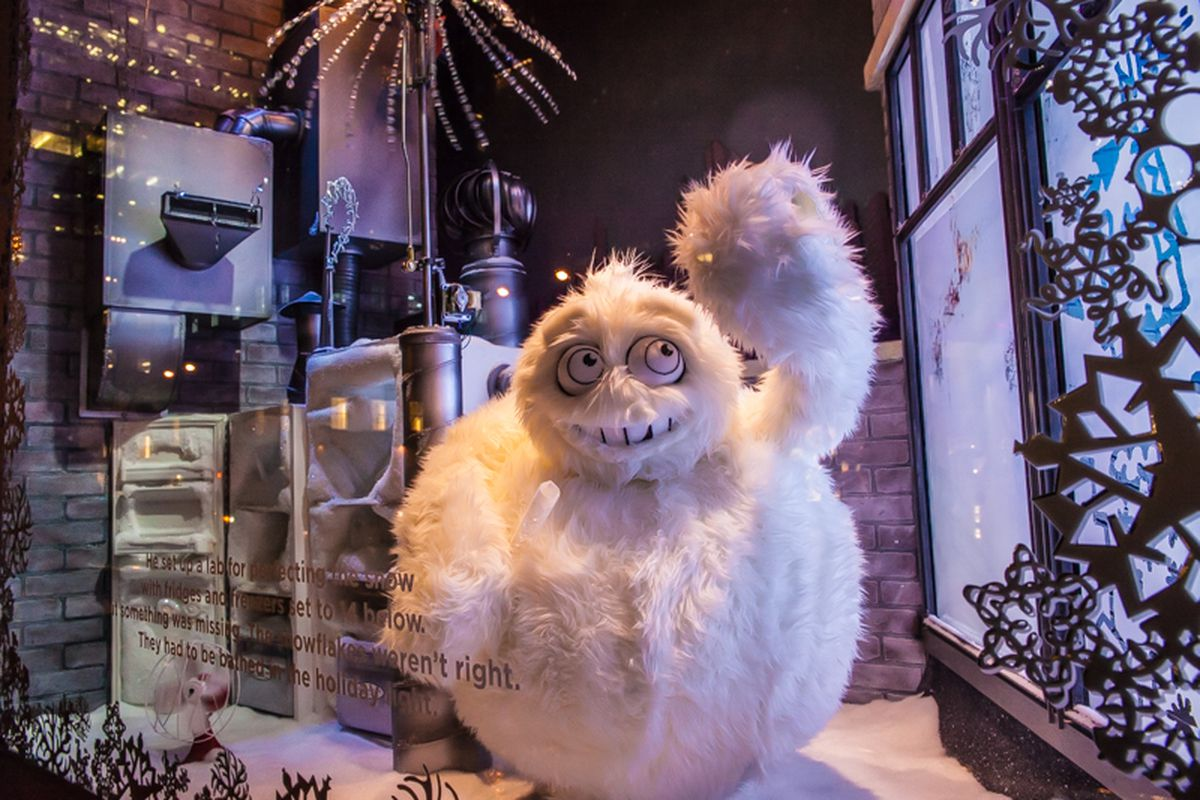 """Looks like the Saks yeti worked overtime last night. Photo by <a href=""""http://peladopelado.com"""">Driely S.</a>"""