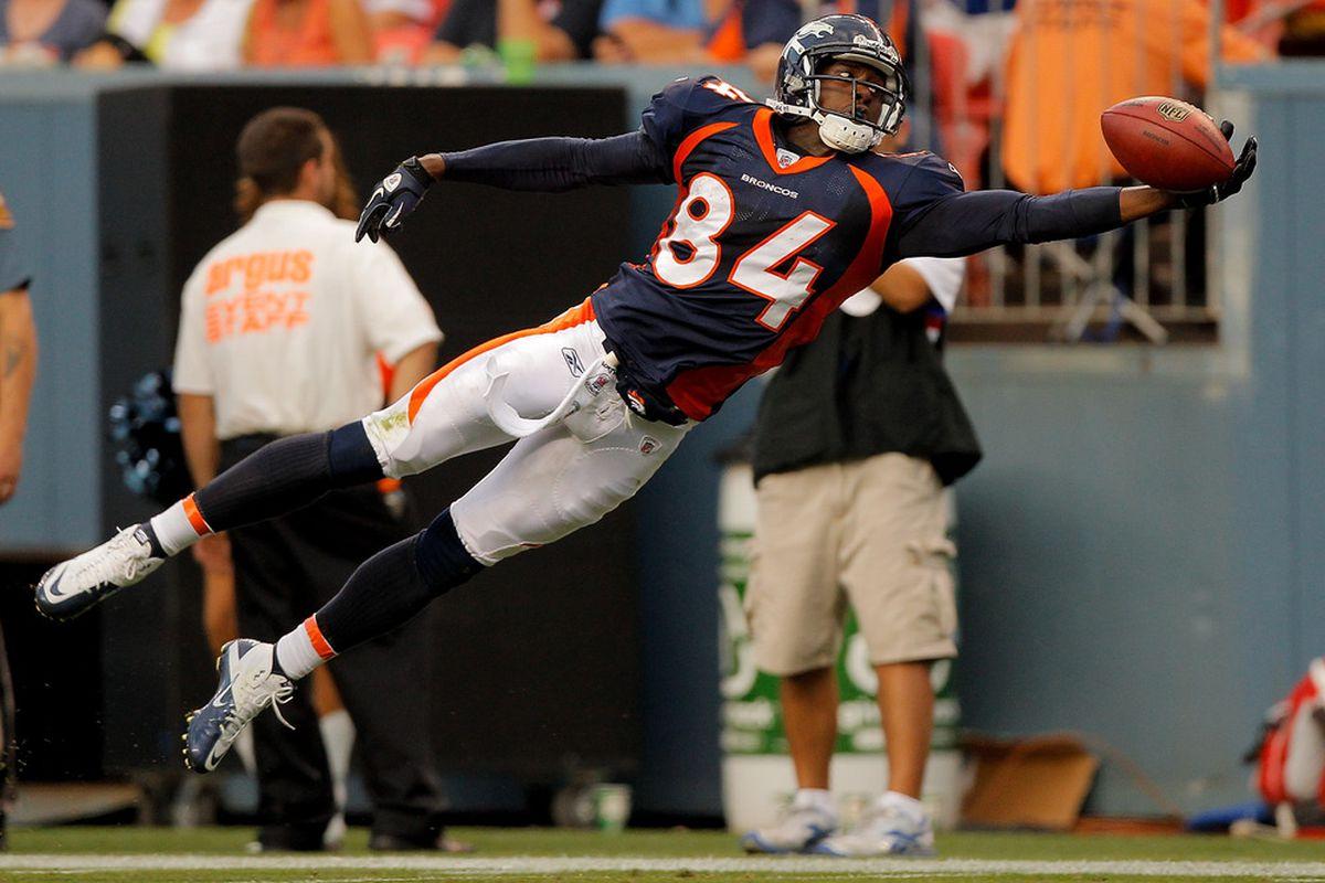 Wide receiver Brandon Lloyd of the Denver Broncos gets named in trade talk today.