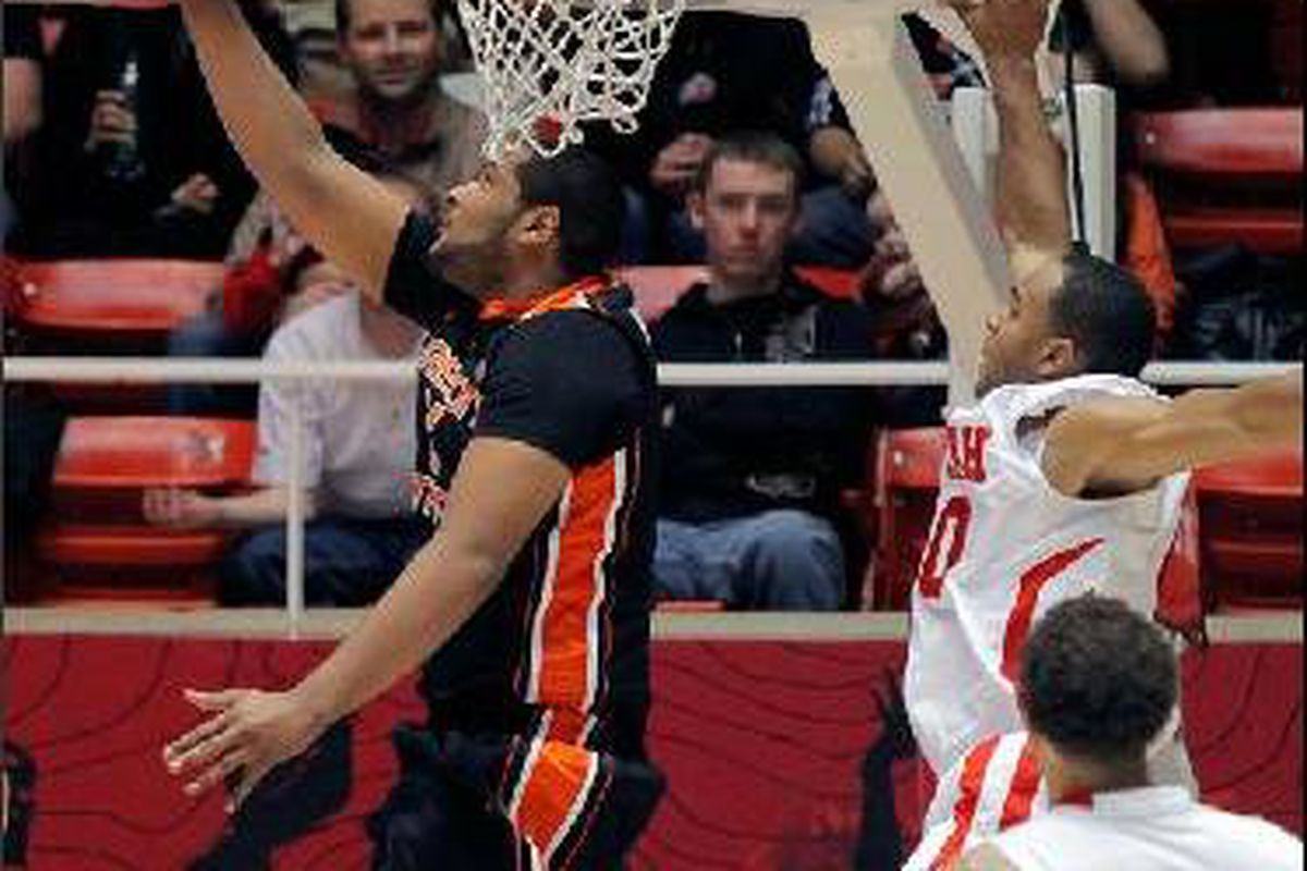 """Joe Burton had big games against Utah in both games last year, both of which were Oregon St. wins. The Beavers could use another big night from """"Big Joe"""" tonight."""