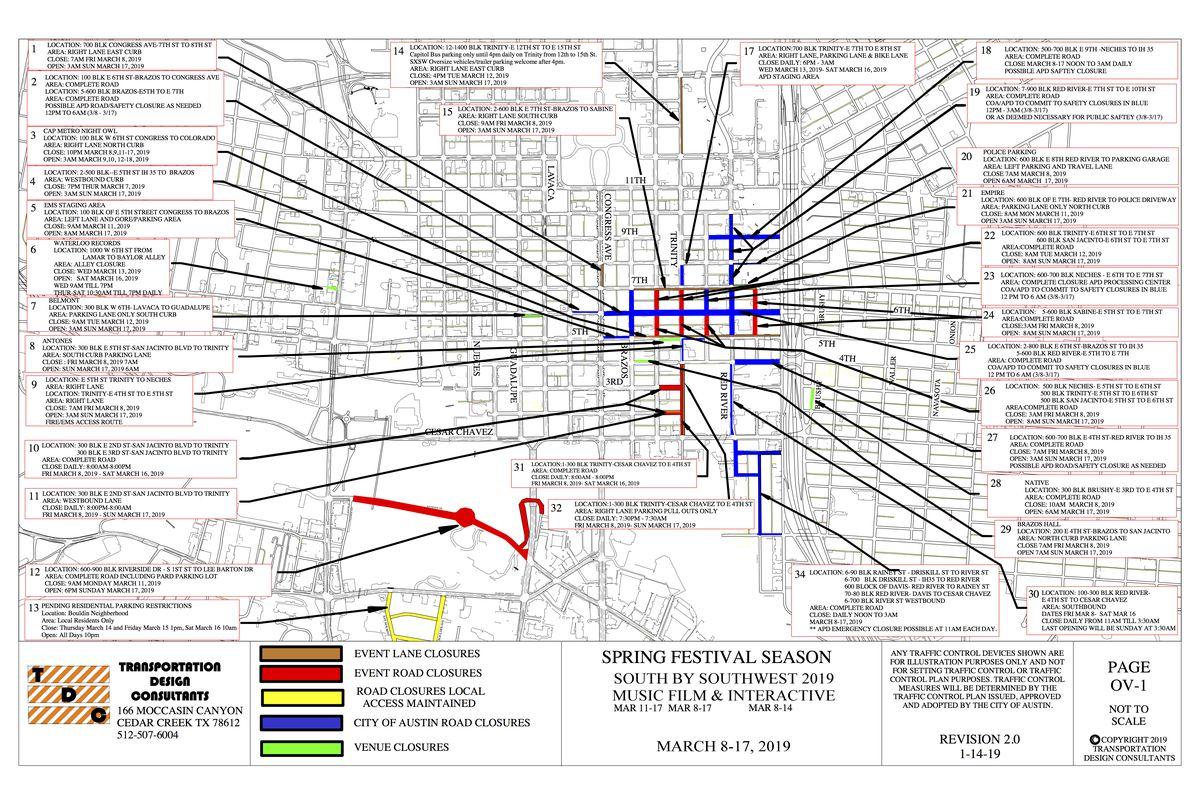 Sxsw 2019 Street Closures Map Curbed Austin