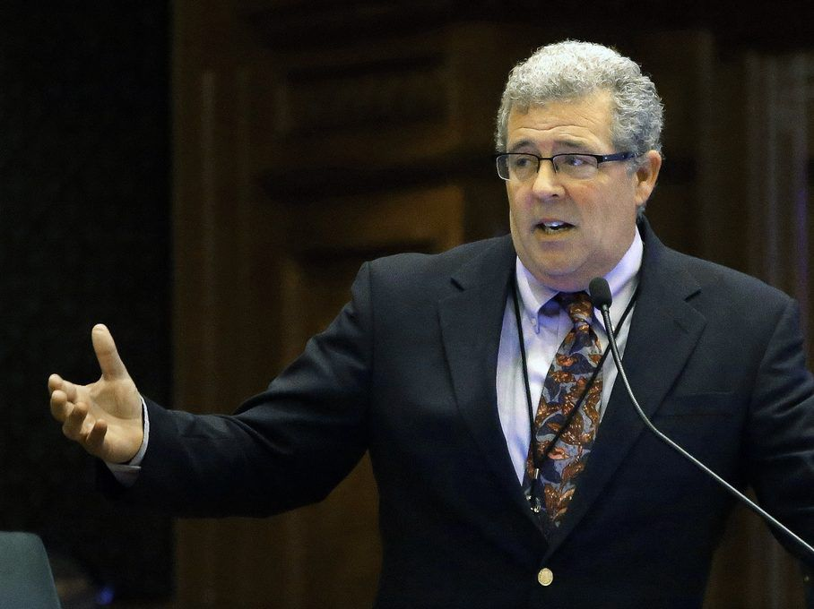 In this May 15, 2014 file photo, current Illinois Auditor General Frank Mautino then an Illinois state Representative, speaks at the state Capitol in Springfield.(AP Photo/Seth Perlman, File)