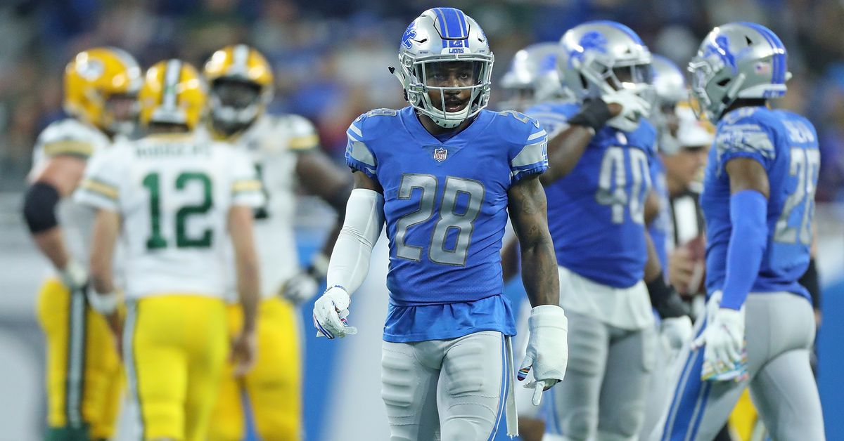 Detroit Lions Week 6 inactives: Quandre Diggs OUT vs. Packers