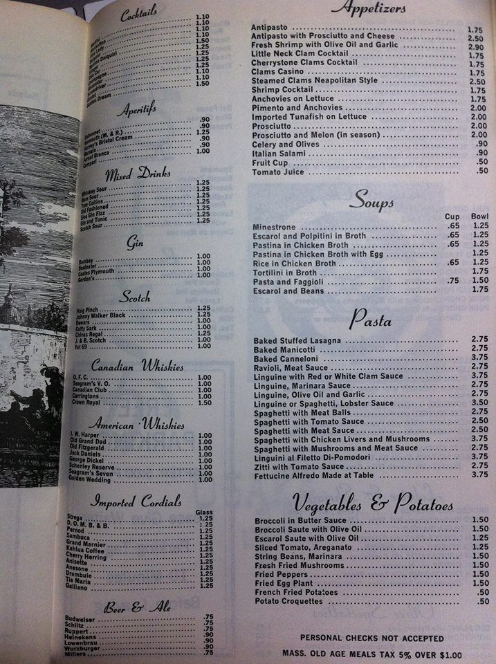 Stella's menu