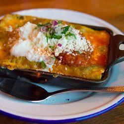 Tomatillo salsa enchilada @ Bar Ama, downtown Los Angeles, CA by KayOne73