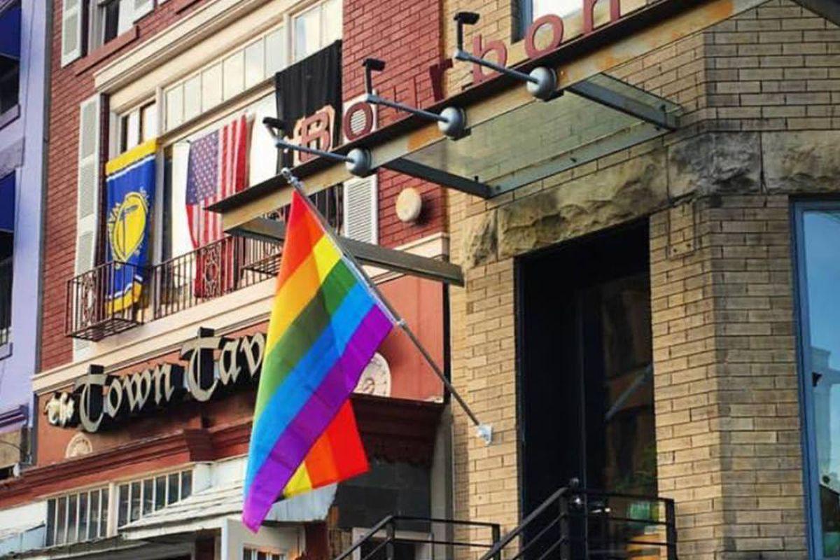 Bourbon's rainbow flag