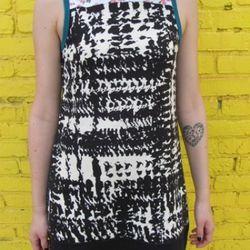 "Dress by Project Runway's original winner <a href=""http://www.jaymccarrollonline.com"">Jay McCarroll</a>"