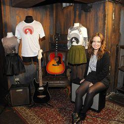 Creative Director Caroline Rothwell with Grammy Label display