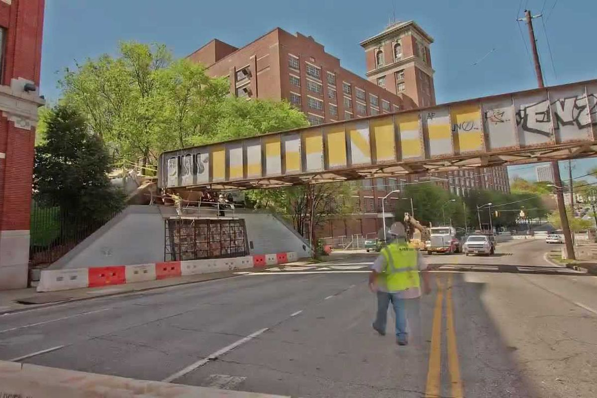 In Atlanta, here's the area in question during Eastside Trail construction five years ago.