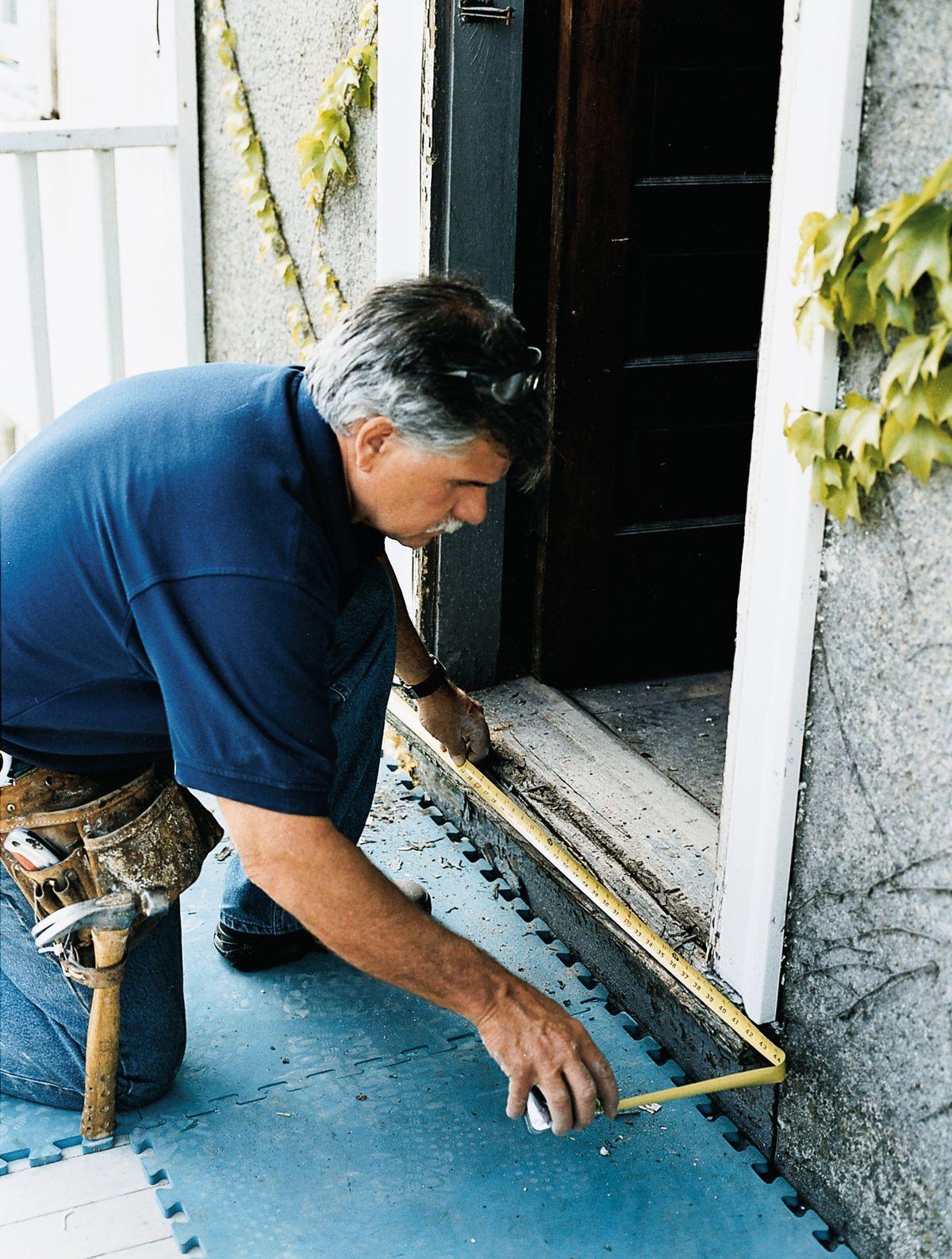 Man Measuring Threshold