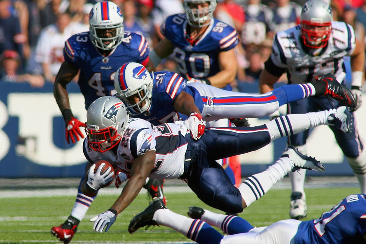 <em>RB Stevan Ridley had some success running against the Bills Sunday</em>.