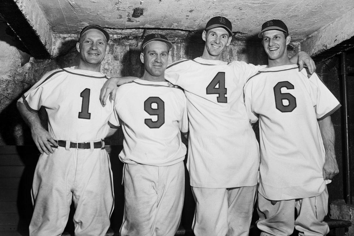 Baseball Player's Uniforms Spell 1946