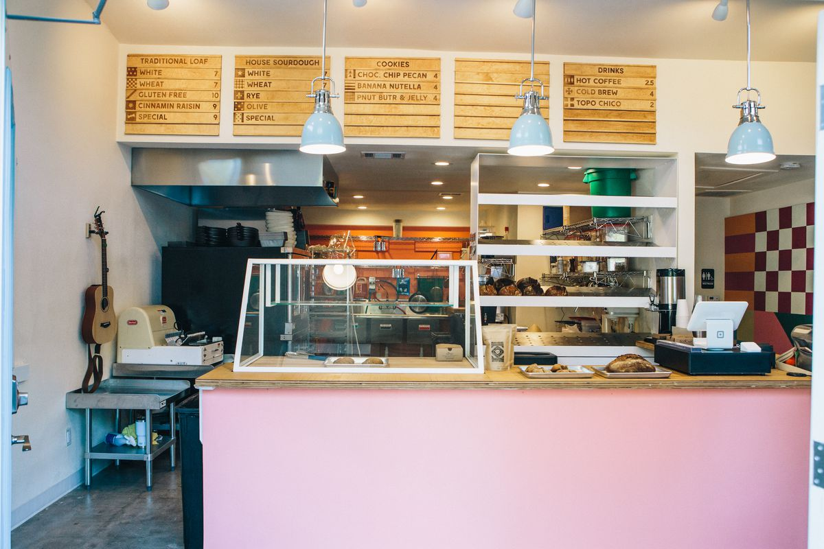 The counter at ThoroughBread bakery