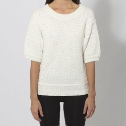 """<strong>Trend #3: Short-sleeve Sweaters.</strong> """"No matter the season, SF ladies probably wear a sweater every day, whether layered under a jacket or over a couple of tees. These short-sleeve cuties are my favorite knits for spring. They're flattering a"""