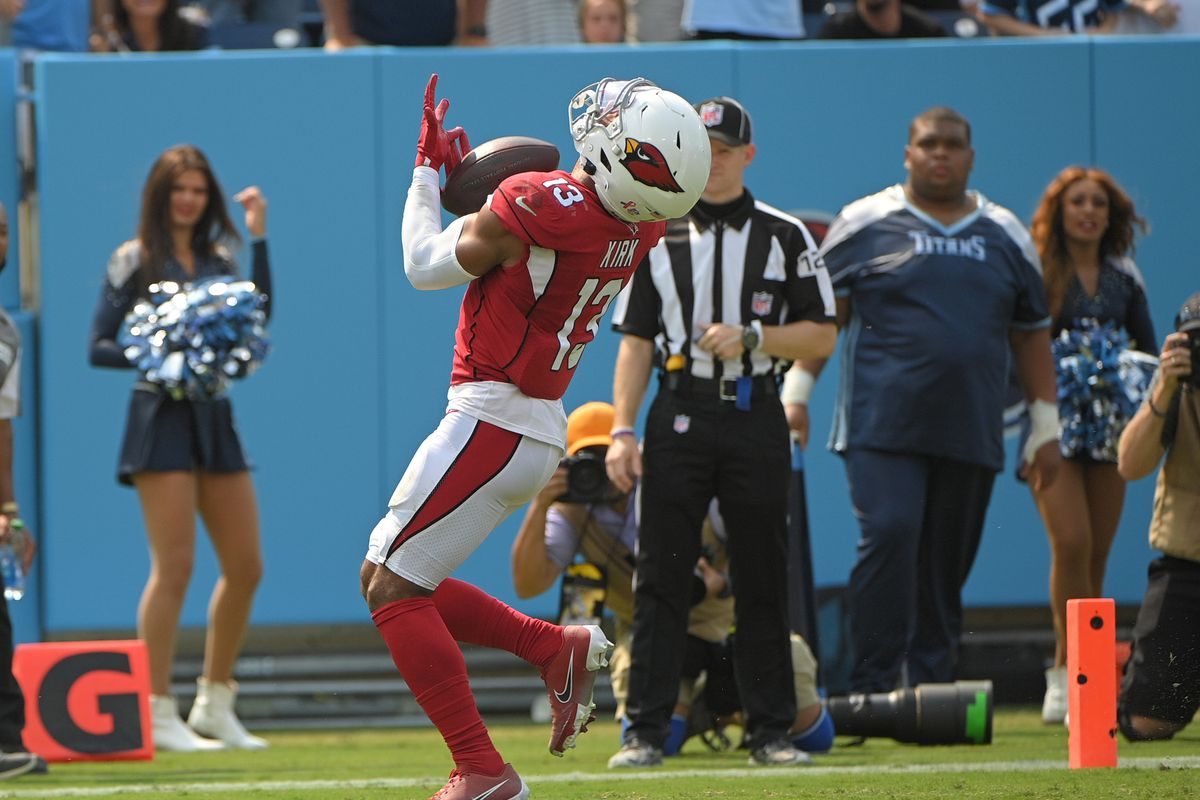 Arizona Cardinals wide receiver Christian Kirk (13) against the Tennessee Titans during the second half at Nissan Stadium.