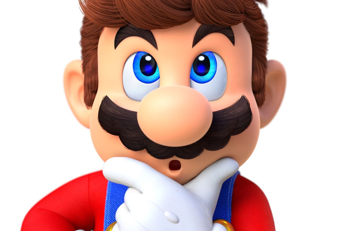 Render of a curious Mario from Super Mario Odyssey