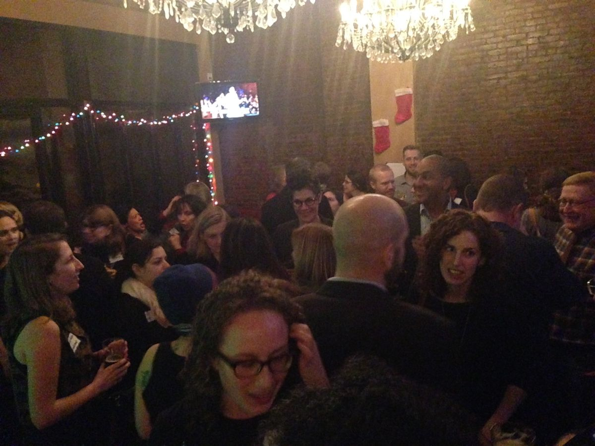 About 150 readers celebrated withChalkbeat New York Tuesday night.