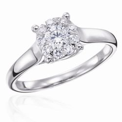 """<b>Mémoire</b> Four Prong Diamond Engagement Ring from the Bouquet Diamond Collection at <b>Long's Jewelers</b>, <a href=""""http://engagementrings.longsjewelers.com/"""">$2150</a> (as shown)"""
