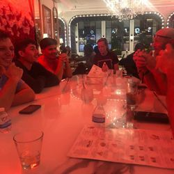 Post-fight grub with everyone who made the trip to Tampa to see me fight