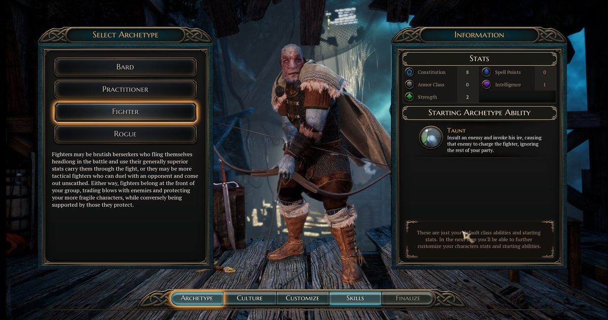 The Bard's Tale 4 - Fighter archetype