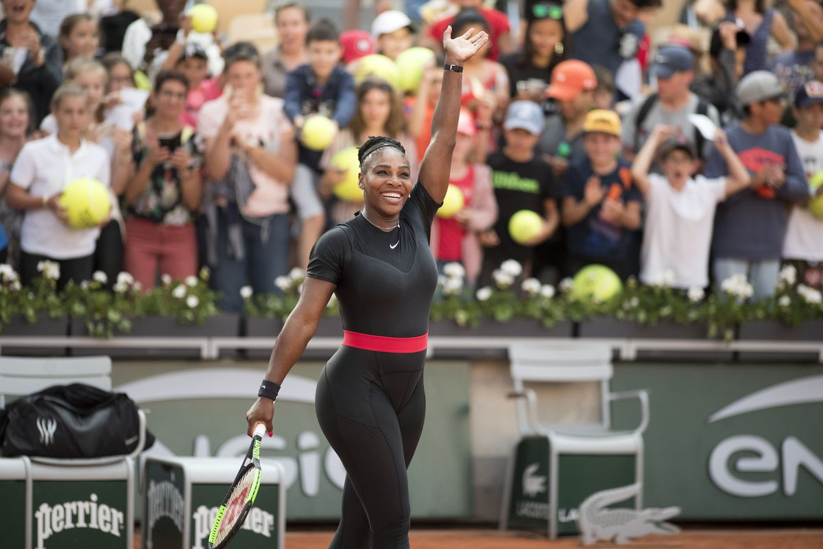 2e486765f Serena Williams in a catsuit at the 2018 French Open that drew comparisons  to Marvel's Black Panther. Tim Clayton/Corbis via Getty Images ...