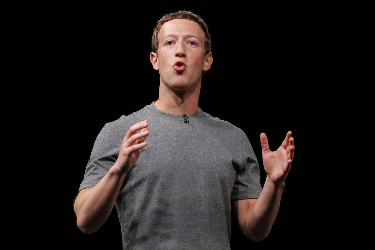 FILE - In this Sunday, Feb. 21, 2016, file photo, Facebook CEO Mark Zuckerberg speaks during the Samsung Galaxy Unpacked 2016 event on the eve of this week's Mobile World Congress wireless show, in Barcelona, Spain. On Thursday, Sept. 21, 2017, Zuckerberg