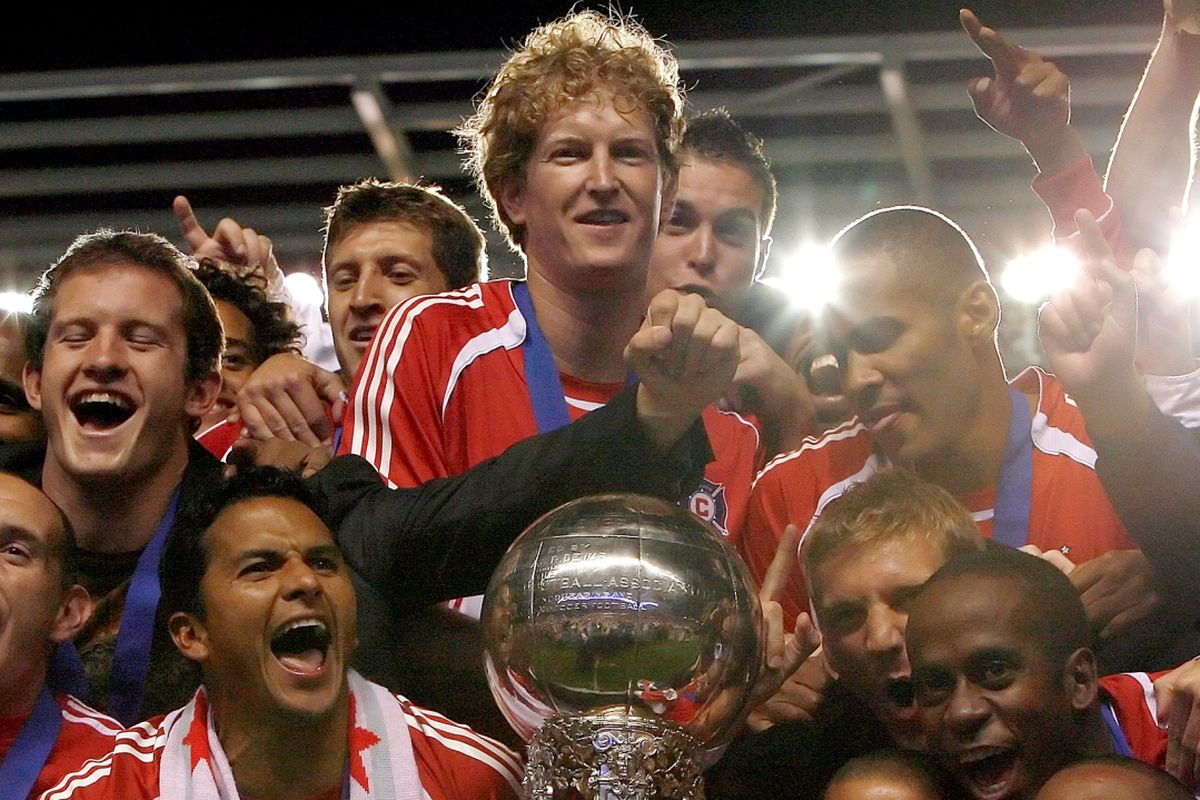 Yes, that was current Philadelphia manager Jim Curtin winning the 2006 US Open Cup trophy with our Fire.