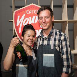 Christina Nguyen and Birk Stefan Grudem of Hola Arepa in Minneapolis