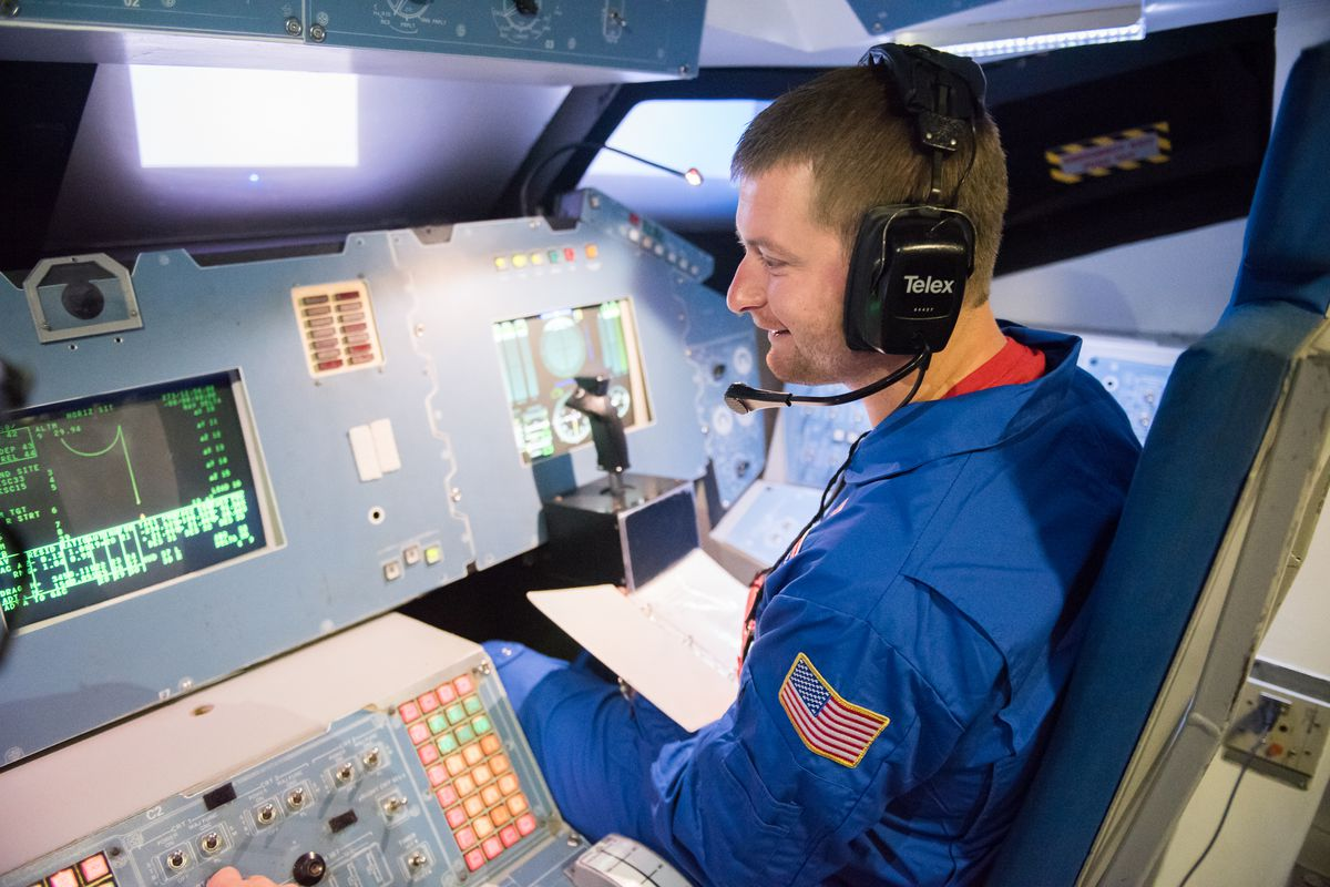 Teacher Mike Cengia spent a week at space camp in June.