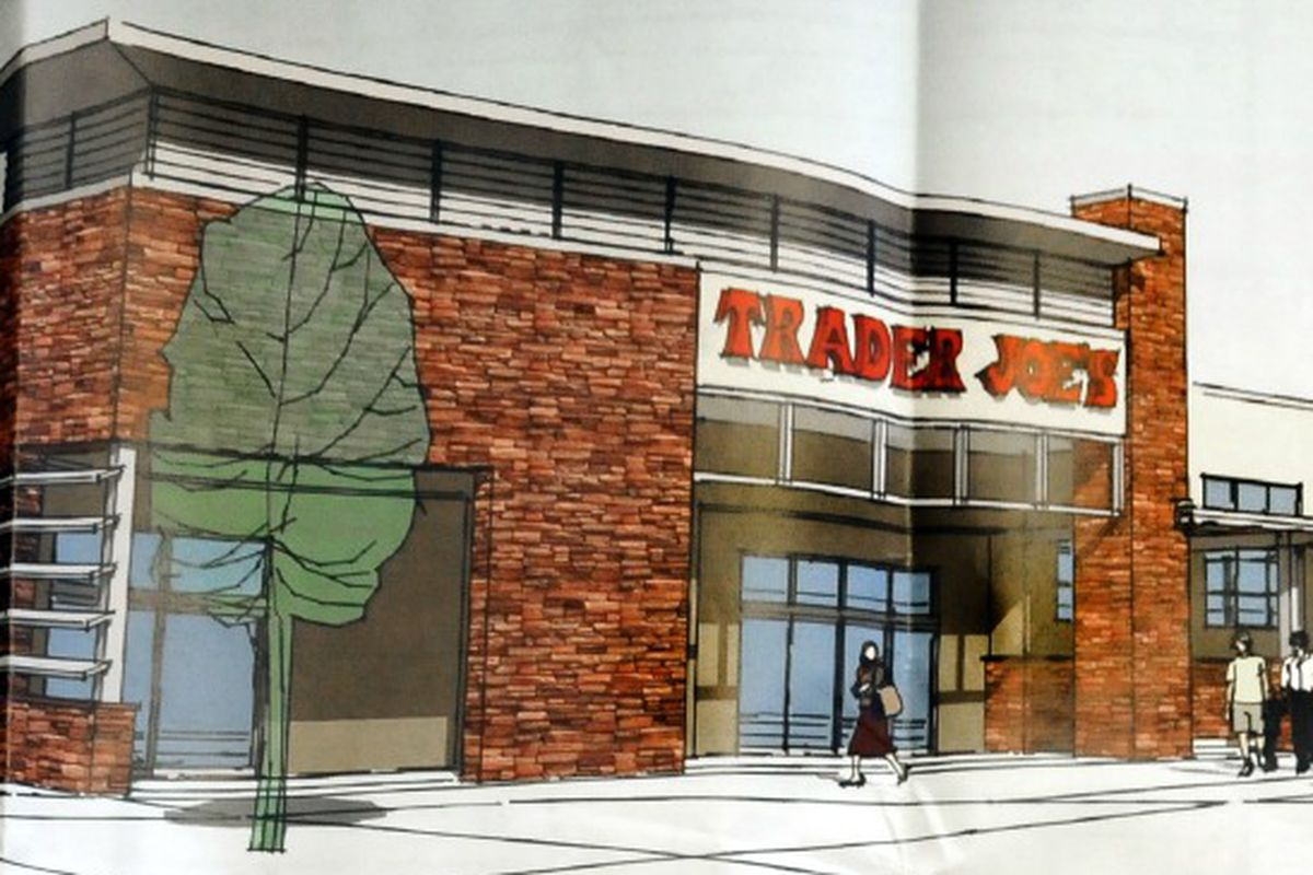 A rendering of a once nonexistent Trader Joe's in Boulder, CO