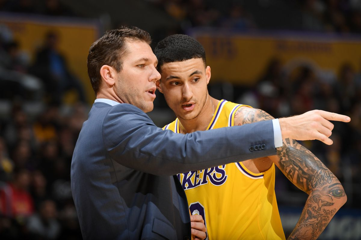 Lakers News: Luke Walton thinks Kyle Kuzma has 'a very high ceiling,' Kuzma credits Walton for helping him re…