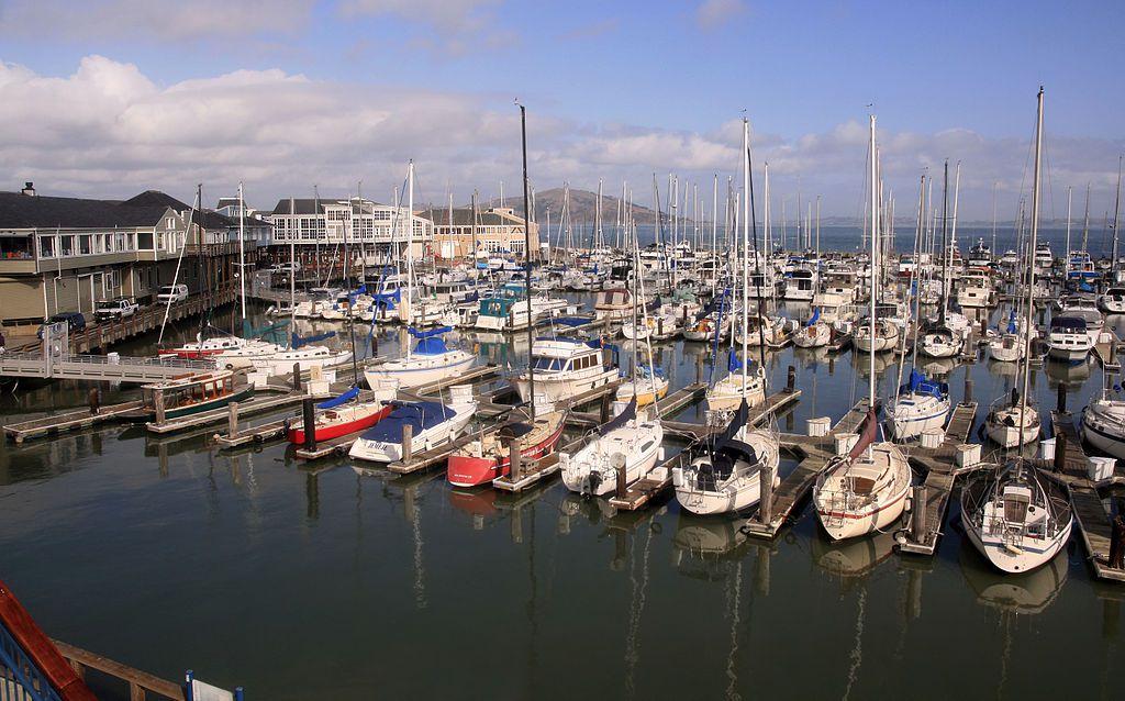 A boat marina in San Francisco with many boats.